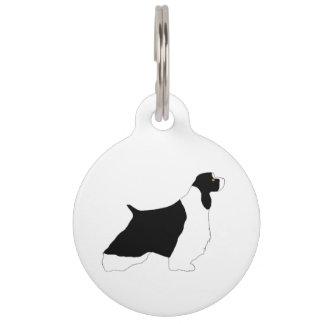 English Springer Spaniel black white tan silo Pet Name Tag