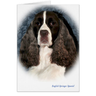 English Springer Spaniel Blank Note Card