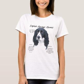 English Springer Spaniel (blk) History Design T-Shirt