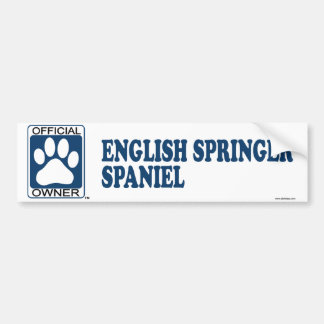 English Springer Spaniel Blue Bumper Sticker