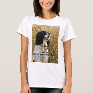 english springer spaniel bwlove w pic T-Shirt