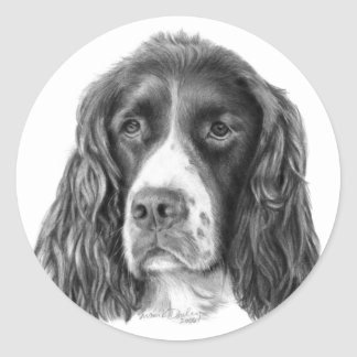 English Springer Spaniel Classic Round Sticker