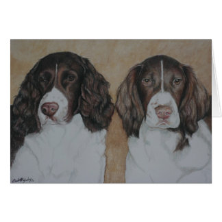 English Springer Spaniel Dog Art Notecard
