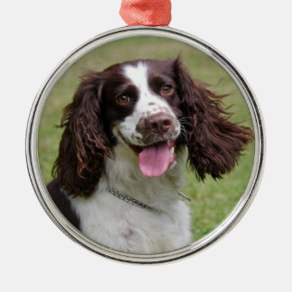 English Springer Spaniel dog beautiful photo, gift Metal Ornament