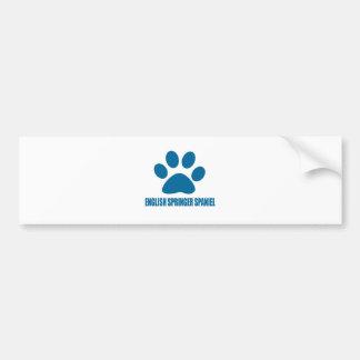 ENGLISH SPRINGER SPANIEL DOG DESIGNS BUMPER STICKER