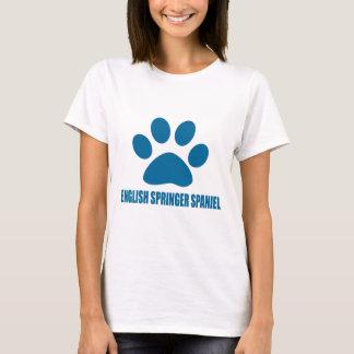 ENGLISH SPRINGER SPANIEL DOG DESIGNS T-Shirt