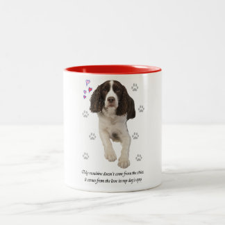 English Springer Spaniel Dog Two-Tone Coffee Mug