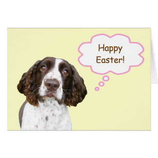 English Springer Spaniel Easter Card