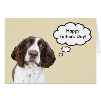 English Springer Spaniel Father's Day Card