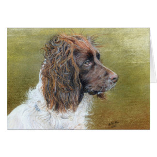 English Springer Spaniel, fine art Card
