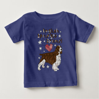 english-springer-spaniel-geometric-tee-shirt baby T-Shirt