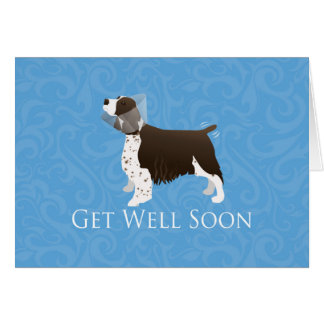English Springer Spaniel Get Well Soon Card