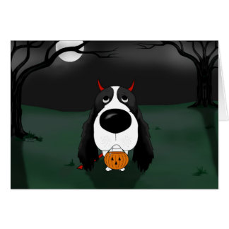 English Springer Spaniel Halloween Card