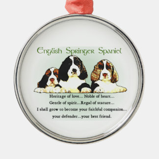 English Springer Spaniel Heritage of Love Metal Ornament