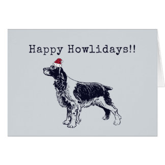 English Springer Spaniel Holiday Card