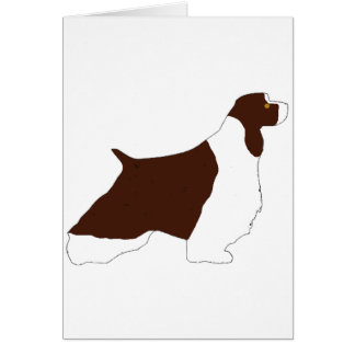 English Springer Spaniel l.iver white tan silo Card