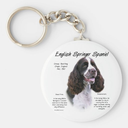 English Springer Spaniel (liver) History Design Key Chain