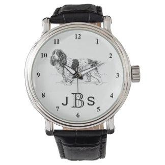 English Springer Spaniel | Masculine Monogram Watch