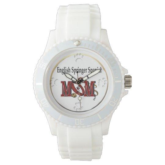 English Springer Spaniel Mom Wristwatch
