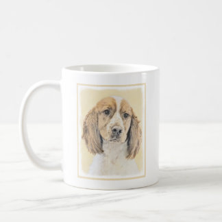 English Springer Spaniel Painting Original Dog Art Coffee Mug