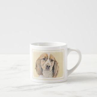 English Springer Spaniel Painting Original Dog Art Espresso Cup