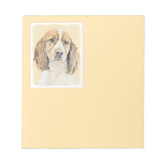 English Springer Spaniel Painting Original Dog Art Notepad