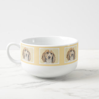 English Springer Spaniel Painting Original Dog Art Soup Mug