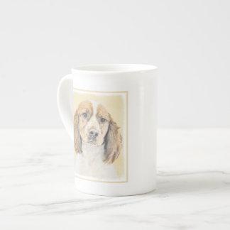 English Springer Spaniel Painting Original Dog Art Tea Cup