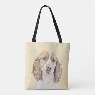 English Springer Spaniel Painting Original Dog Art Tote Bag