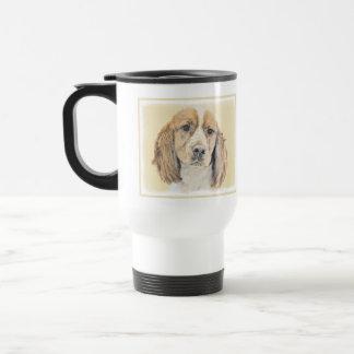English Springer Spaniel Painting Original Dog Art Travel Mug