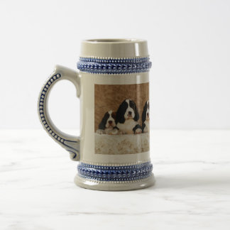 English Springer Spaniel Puppies Beer Stein
