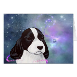 English Springer Spaniel Puppy Greeting Card