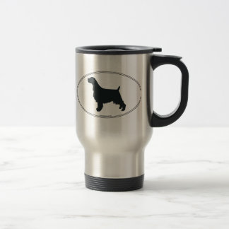 English Springer Spaniel Silhouette Travel Mug