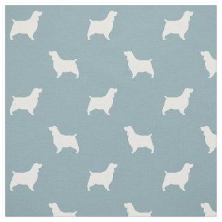 English Springer Spaniel Silhouettes Pattern Fabric