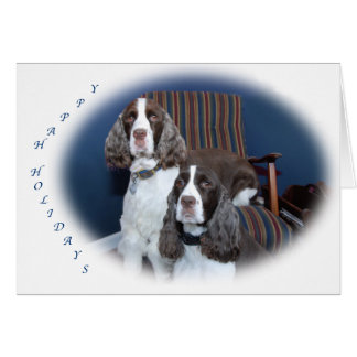 English Springer Spaniels Holiday Card