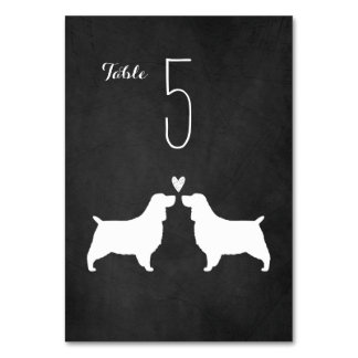 English Springer Spaniels Wedding Table Card