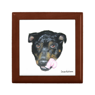 English Staffordshire Bull Terrier gift box