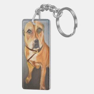 English Staffordshire Bull Terrier Keychain