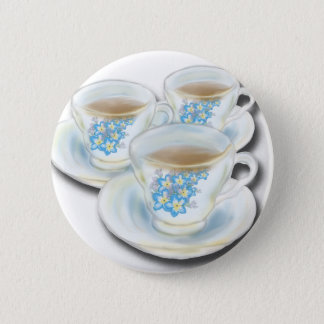English Tea Set - China with forgetmenot flowers 2 Inch Round Button