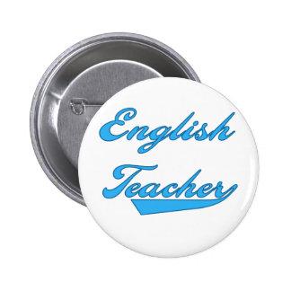 English Teacher Blue 2 Inch Round Button