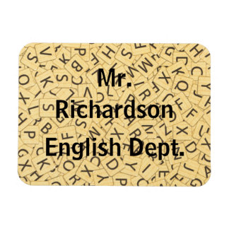 English Teacher Letters Flat Refrigerator Magn Rectangular Photo Magnet