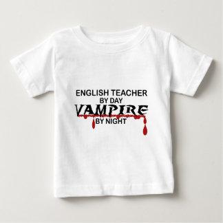 English Teacher Vampire by Night Baby T-Shirt
