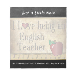 English Teacher | Vintage Style Notepad