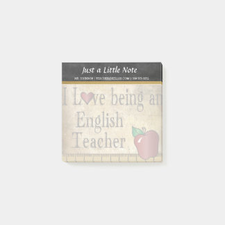English Teacher | Vintage Style Post-it Notes