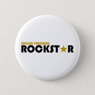 English Teaching Rockstar 2 Inch Round Button