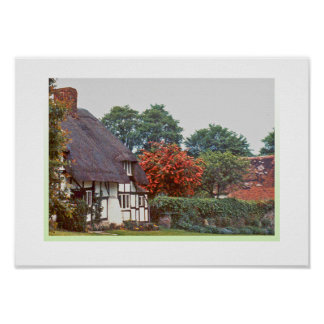 English Thatched roof cottage Poster