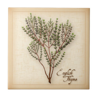English Thyme Herb Tile