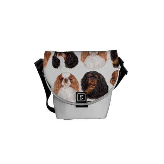 English Toy Spaniel Bag , All four Colours Messenger Bag