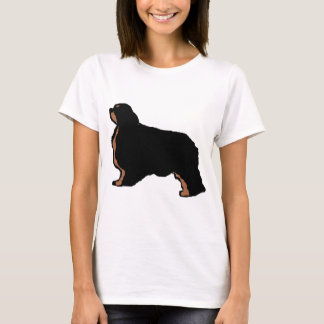 english toy spaniel black and tan silo T-Shirt