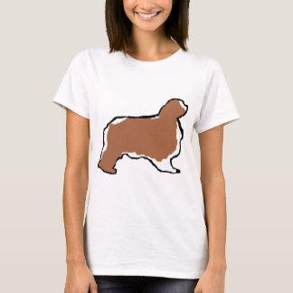 english toy spaniel blenheim silo T-Shirt